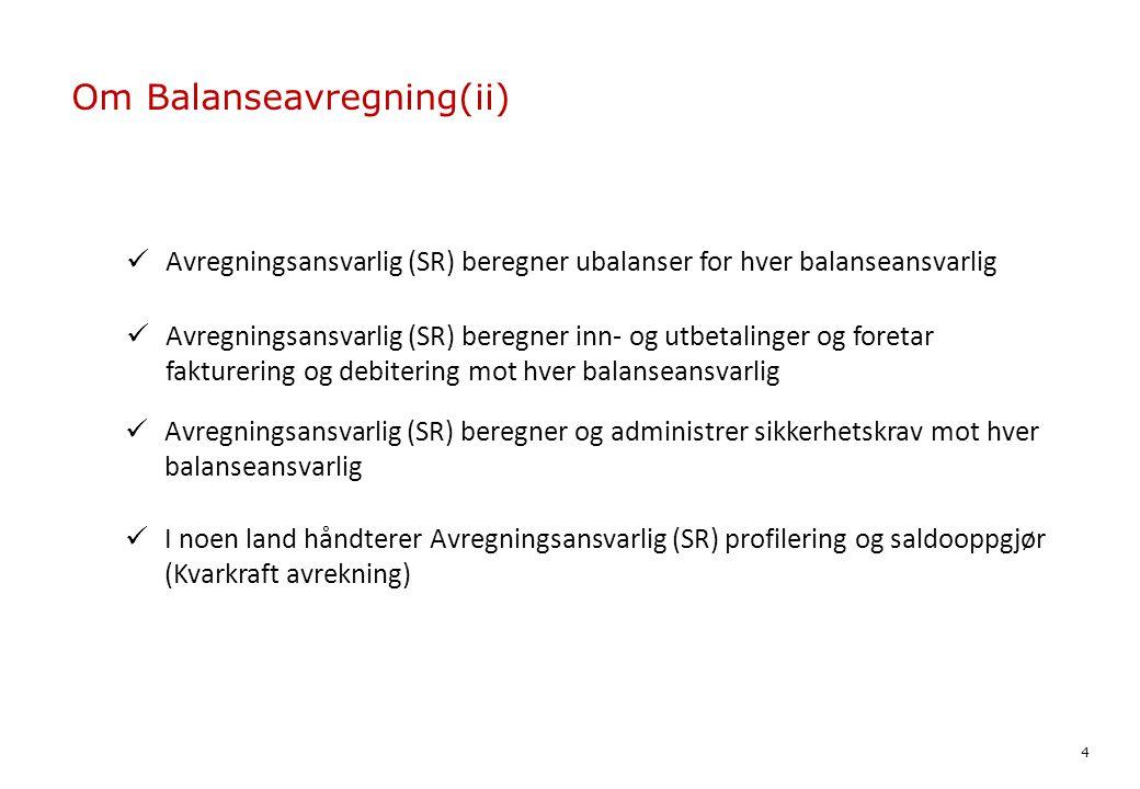 Om Balanseavregning(ii)