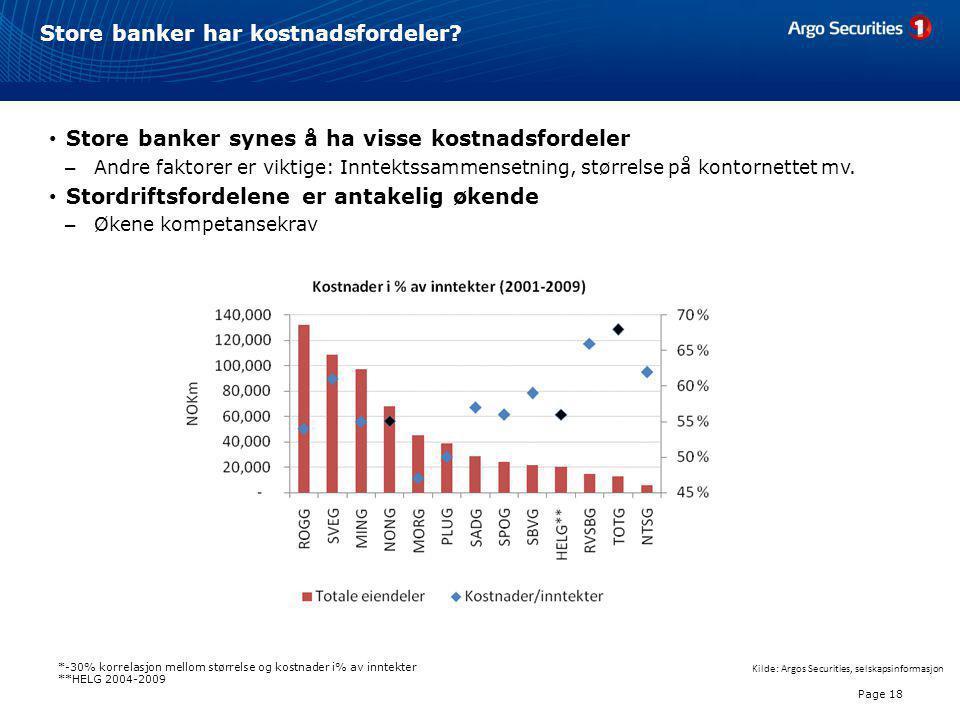 Store banker har kostnadsfordeler