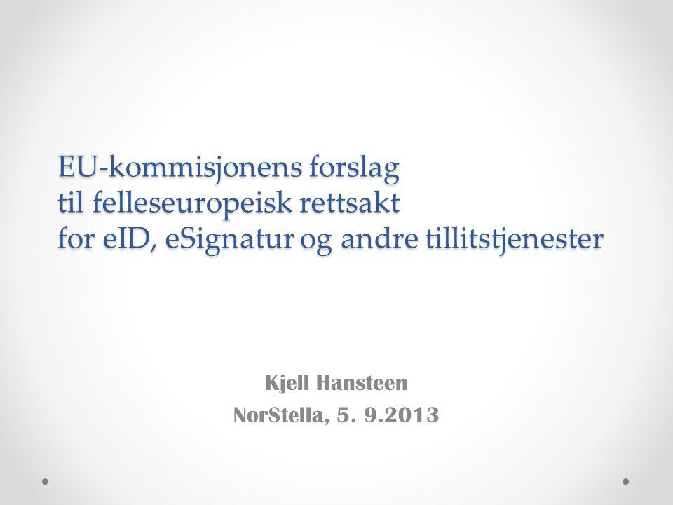 Kjell Hansteen NorStella, 5. 9.2013