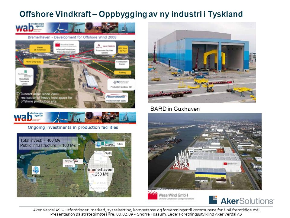 Offshore Vindkraft – Oppbygging av ny industri i Tyskland