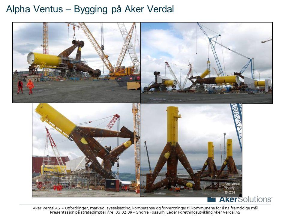 Alpha Ventus – Bygging på Aker Verdal