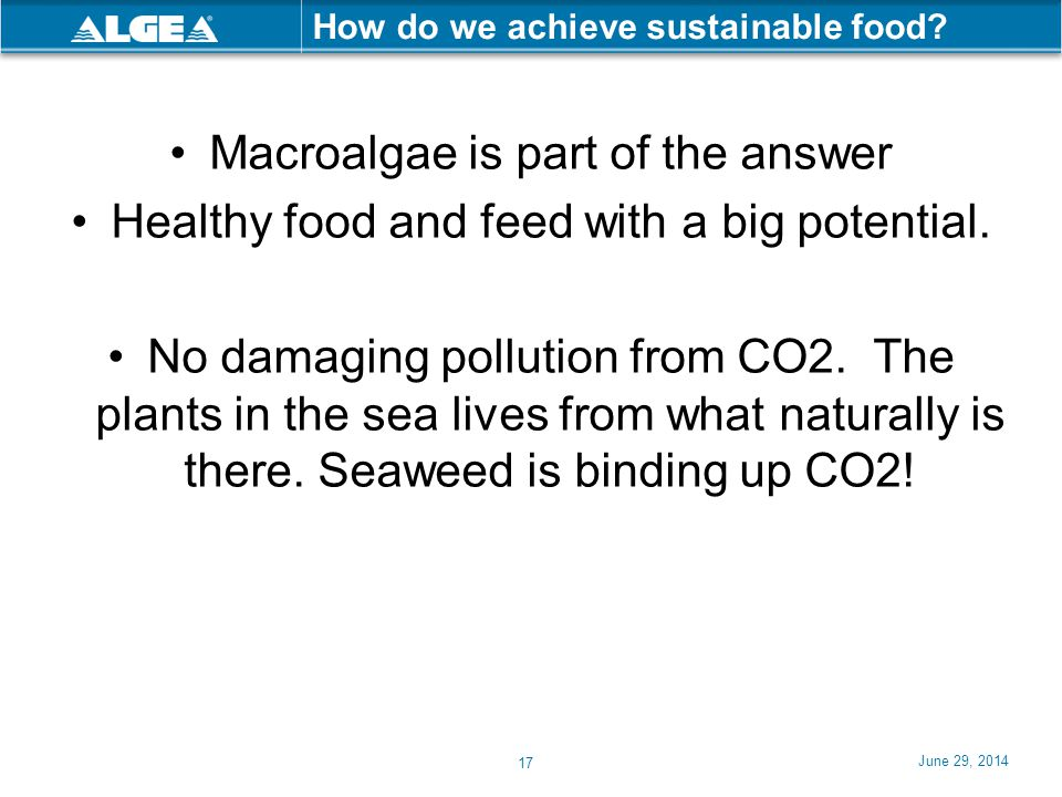 How do we achieve sustainable food