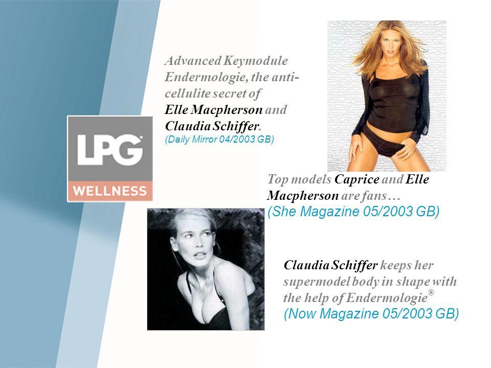 Advanced Keymodule Endermologie, the anti-cellulite secret of Elle Macpherson and Claudia Schiffer. (Daily Mirror 04/2003 GB)