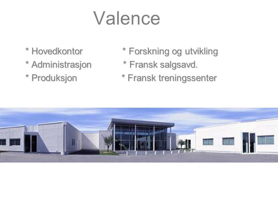 Valence * Hovedkontor * Forskning og utvikling