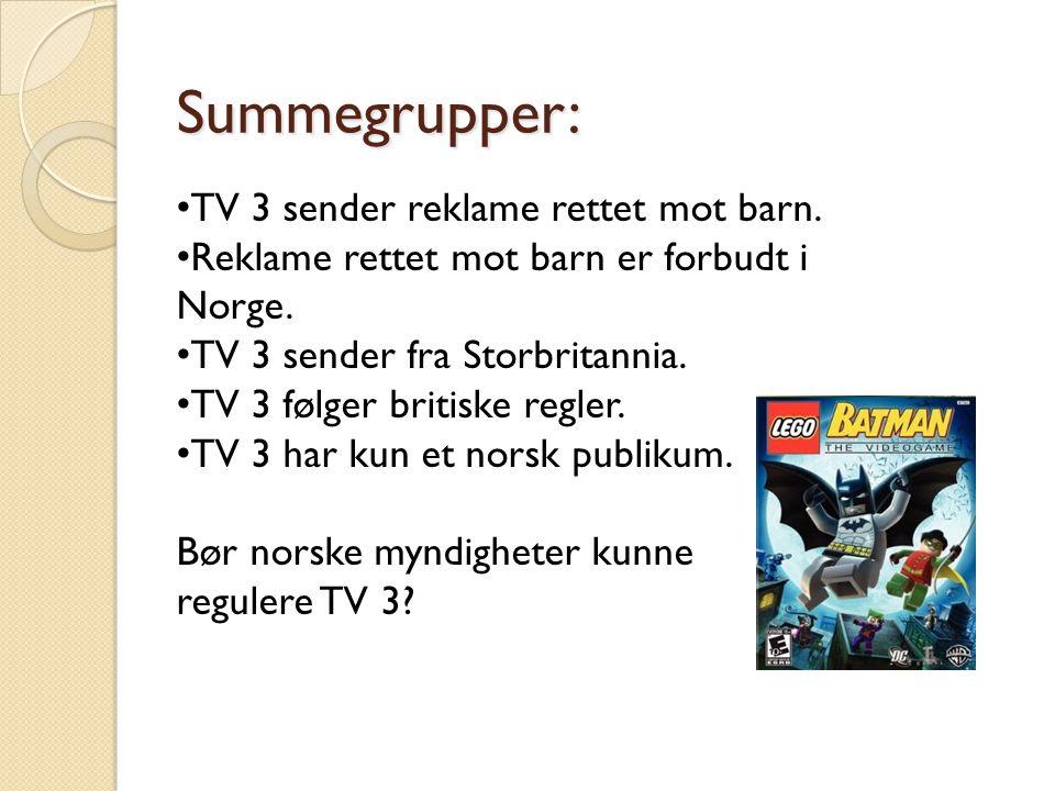 Summegrupper: TV 3 sender reklame rettet mot barn.