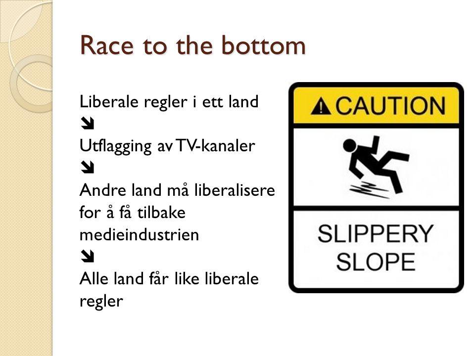 Race to the bottom Liberale regler i ett land 