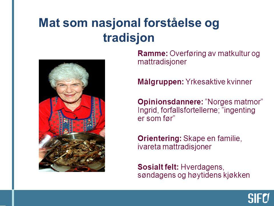 Mat som nasjonal forståelse og tradisjon