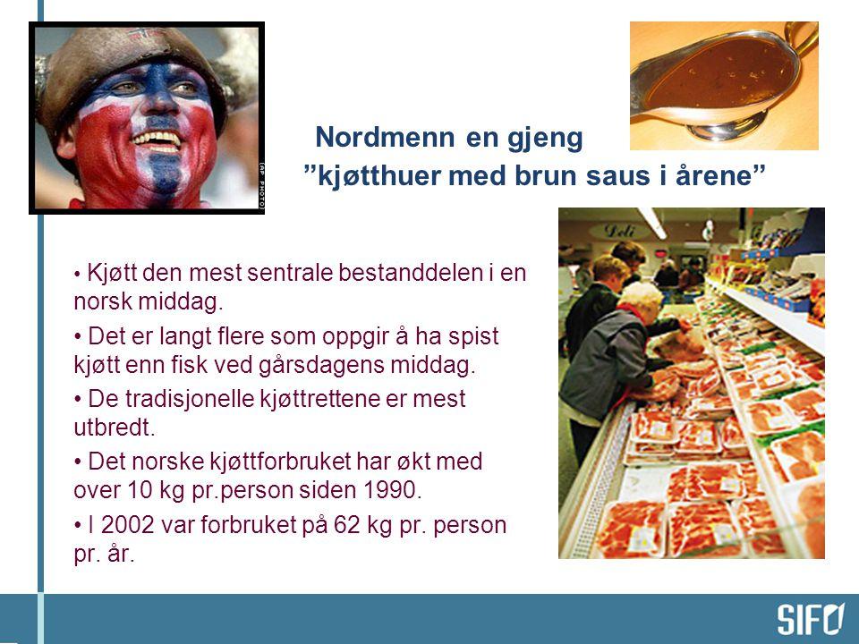 Nordmenn en gjeng kjøtthuer med brun saus i årene