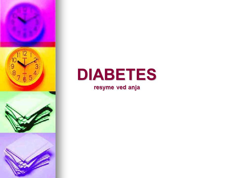DIABETES resyme ved anja