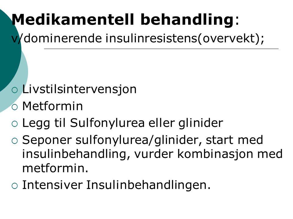 Medikamentell behandling: