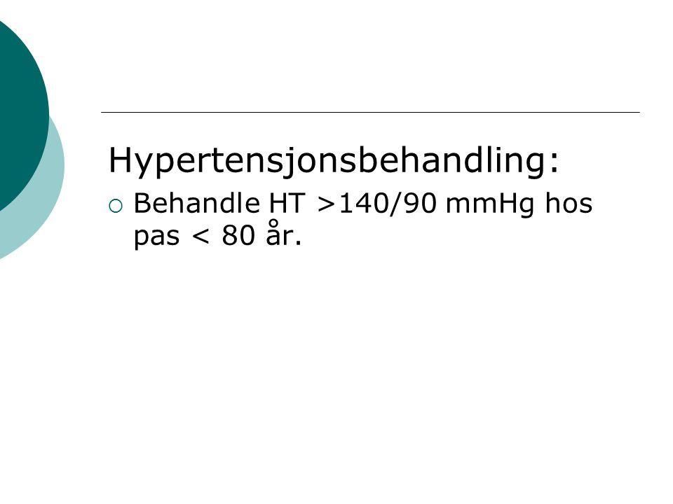 Hypertensjonsbehandling: