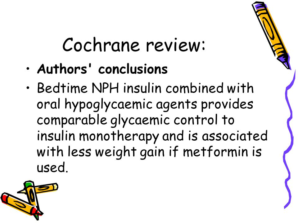 Cochrane review: Authors conclusions