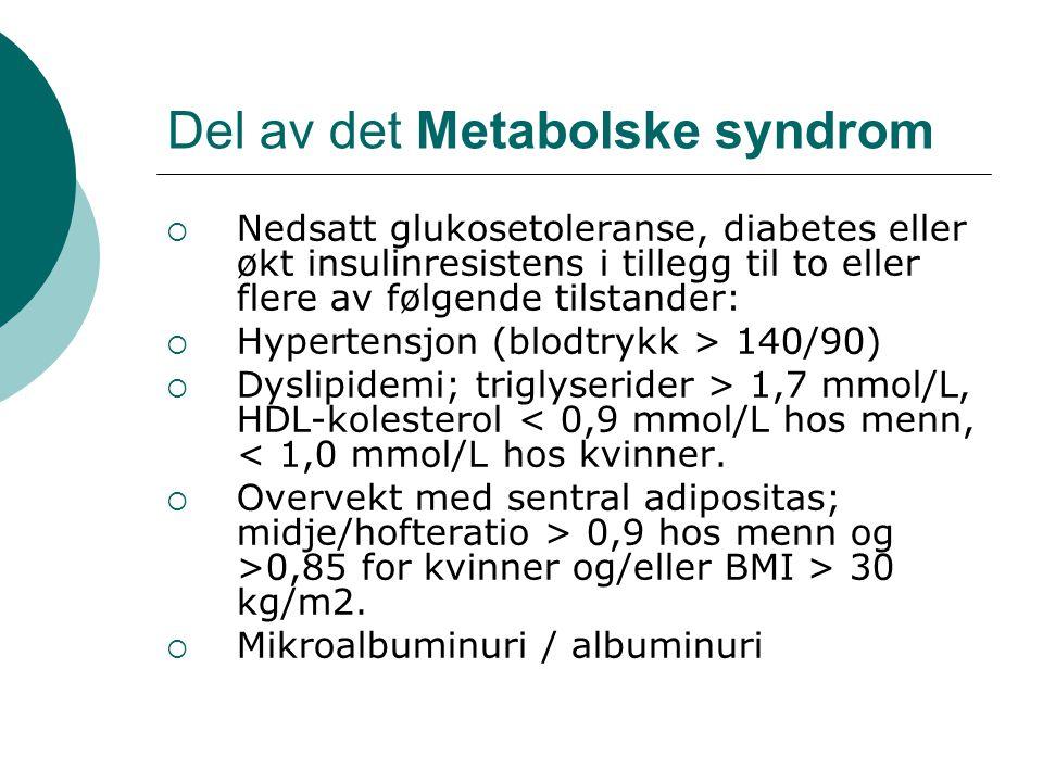 Del av det Metabolske syndrom