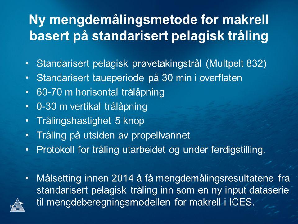 Ny mengdemålingsmetode for makrell basert på standarisert pelagisk tråling