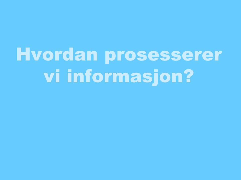 Hvordan prosesserer vi informasjon