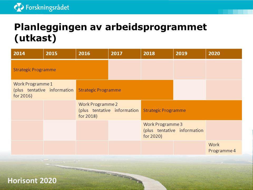 Planleggingen av arbeidsprogrammet (utkast)