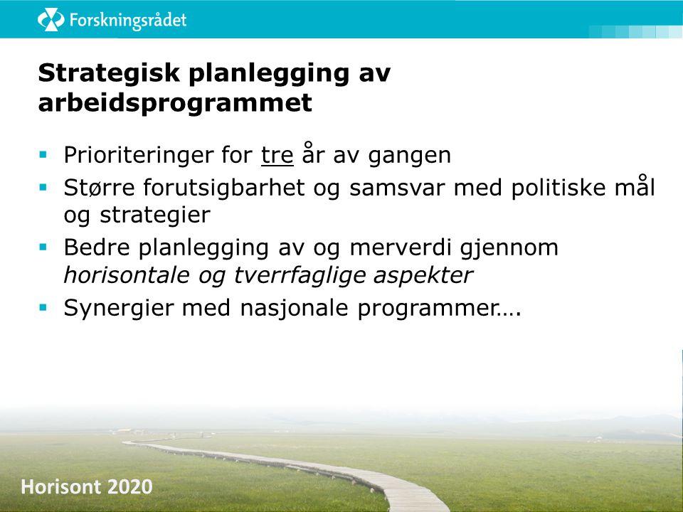 Strategisk planlegging av arbeidsprogrammet