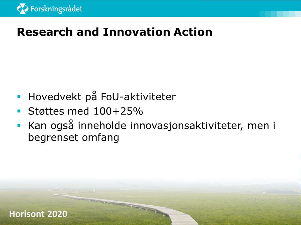 Research and Innovation Action