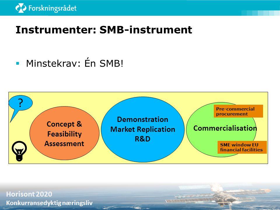 Instrumenter: SMB-instrument