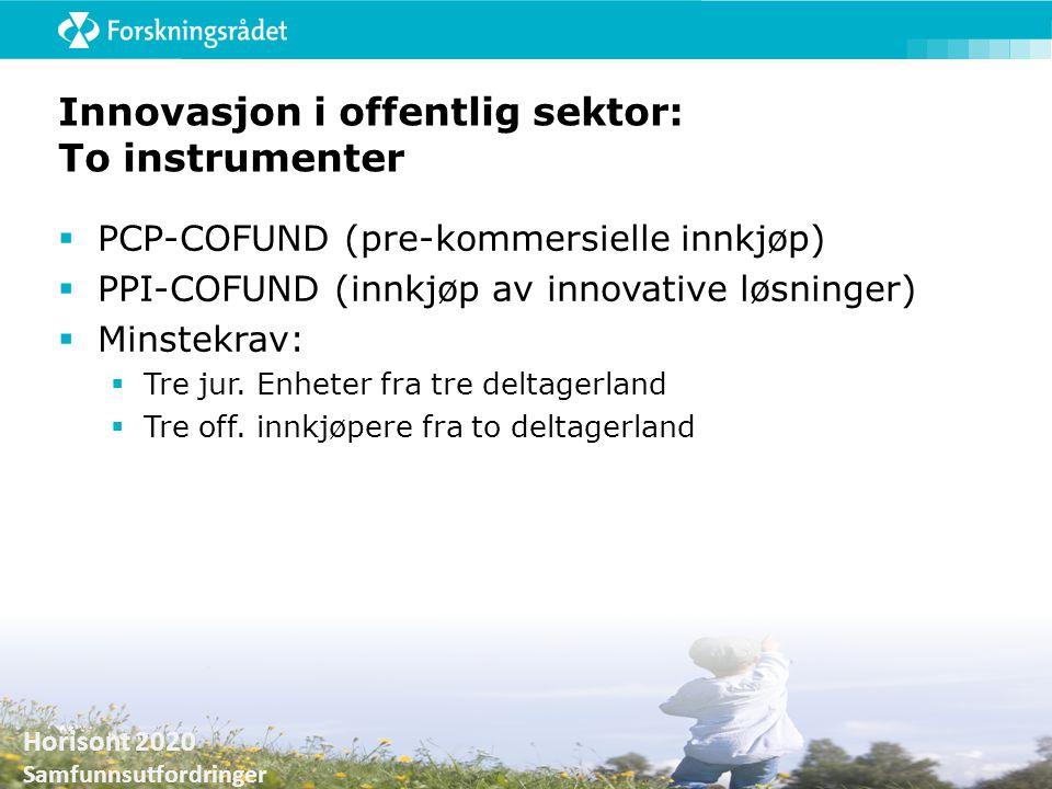 Innovasjon i offentlig sektor: To instrumenter