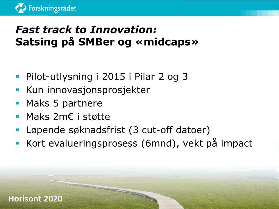 Fast track to Innovation: Satsing på SMBer og «midcaps»