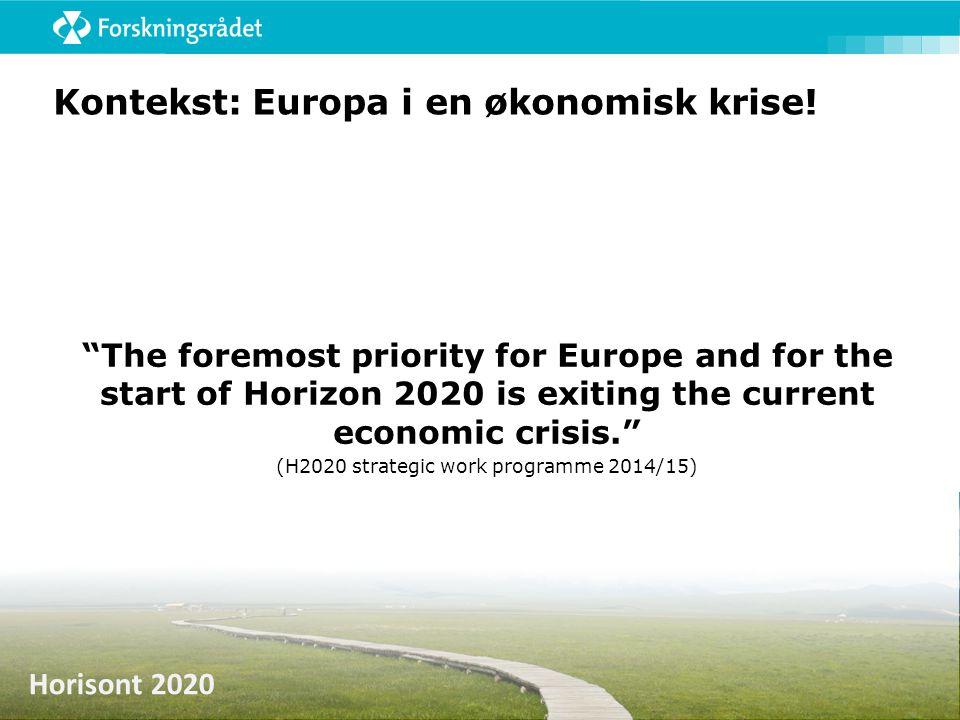 Kontekst: Europa i en økonomisk krise!
