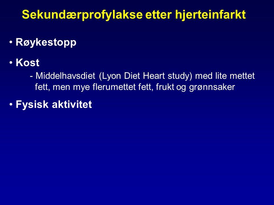 Sekundærprofylakse etter hjerteinfarkt