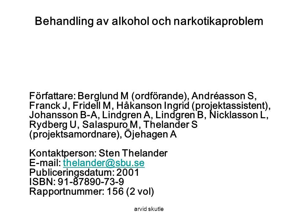 Behandling av alkohol och narkotikaproblem