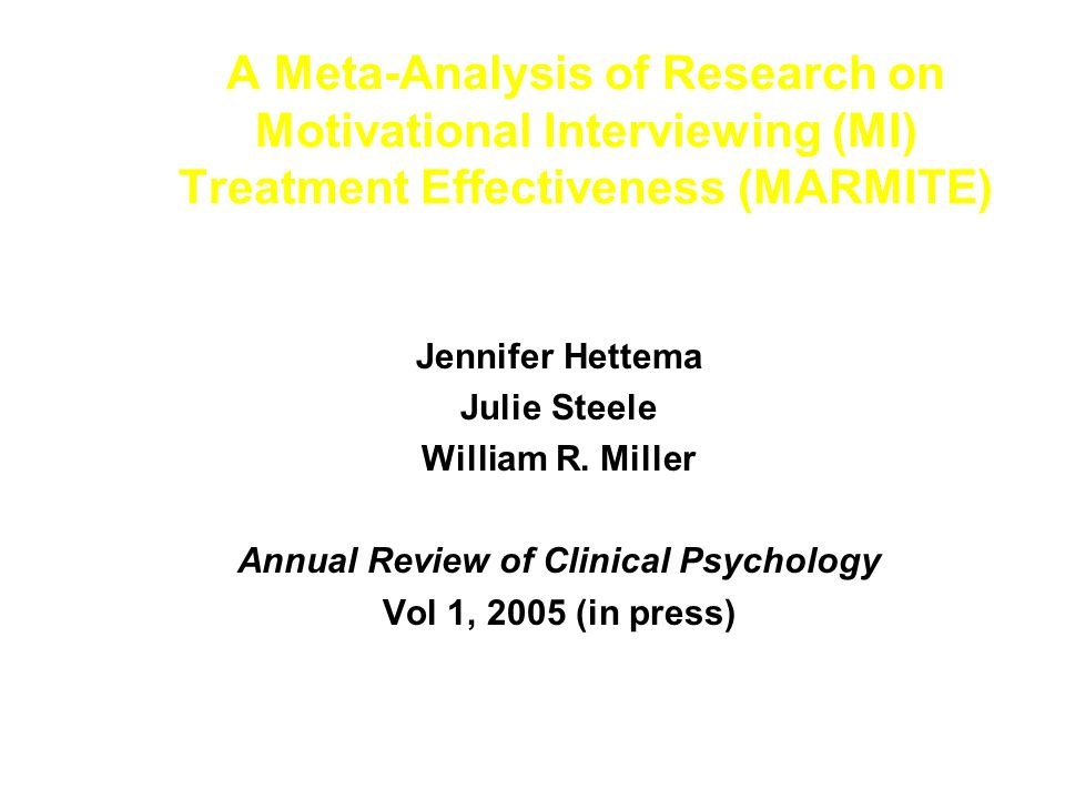 Annual Review of Clinical Psychology