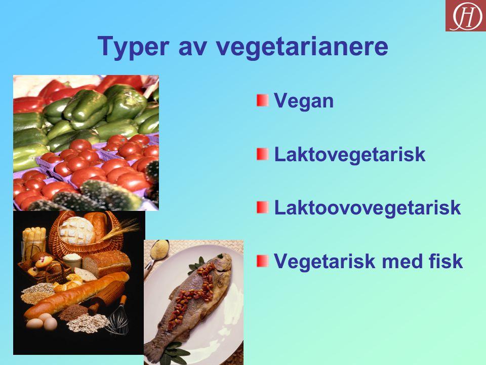 Typer av vegetarianere