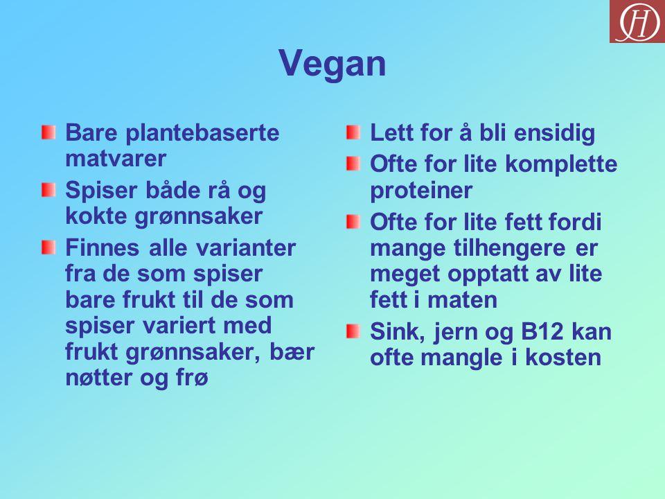 Vegan Bare plantebaserte matvarer Spiser både rå og kokte grønnsaker