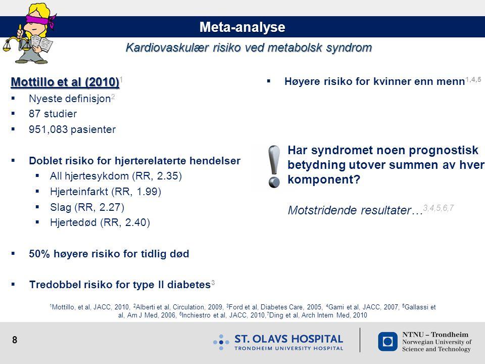 Kardiovaskulær risiko ved metabolsk syndrom