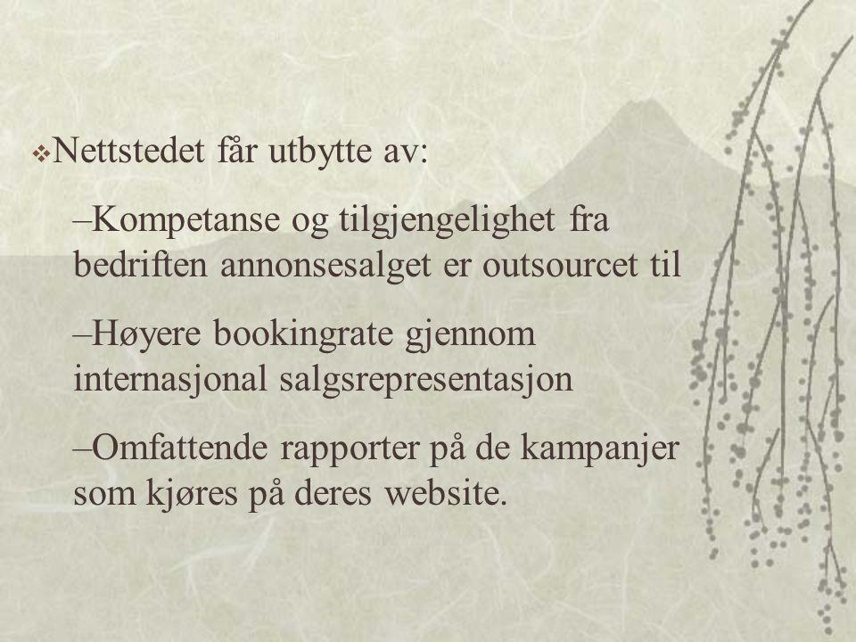 Nettstedet får utbytte av: