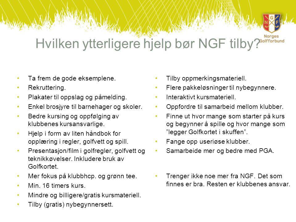 Hvilken ytterligere hjelp bør NGF tilby