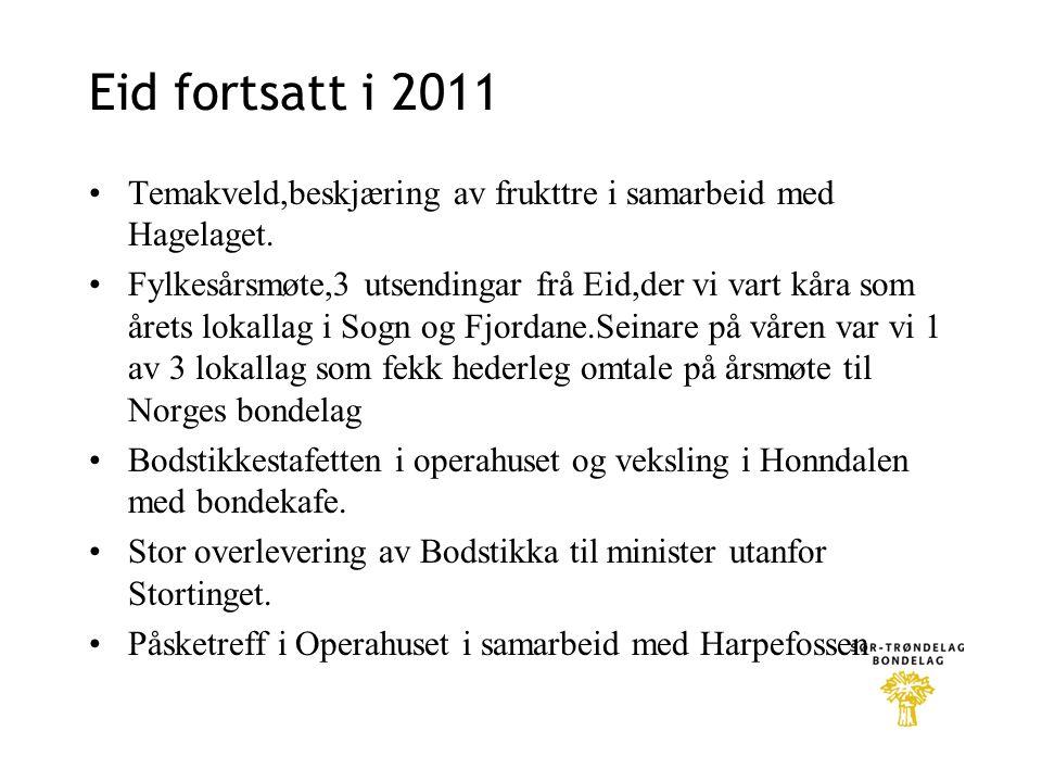 Eid fortsatt i 2011 Temakveld,beskjæring av frukttre i samarbeid med Hagelaget.
