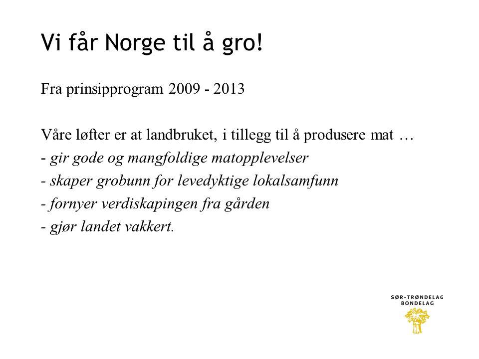 Vi får Norge til å gro!