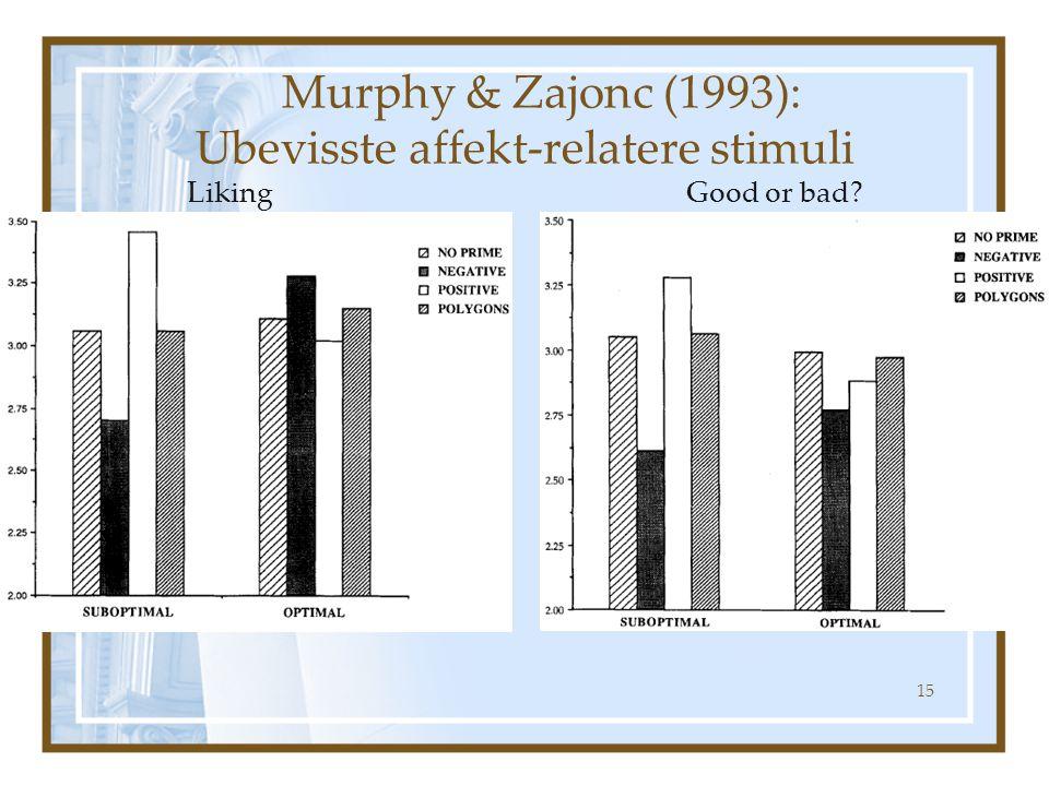 Fra Murphy & Zajonc, 1993