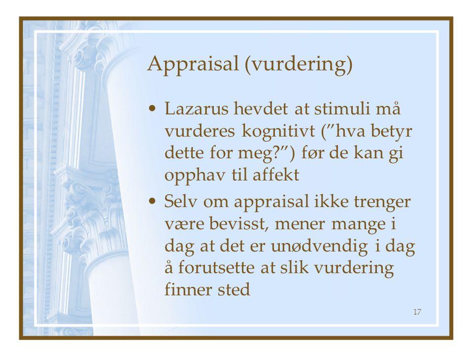 Appraisal (vurdering)
