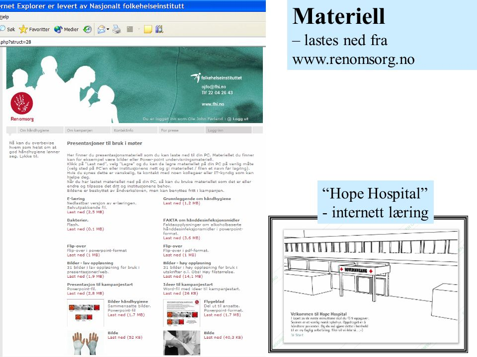 Materiell – lastes ned fra www.renomsorg.no