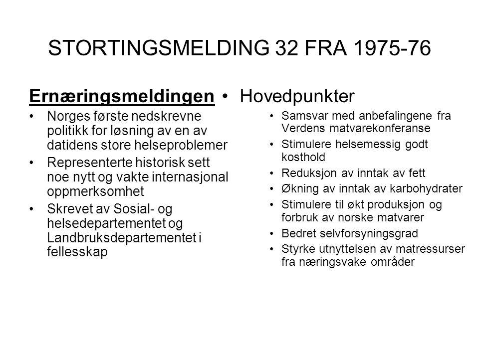 STORTINGSMELDING 32 FRA 1975-76