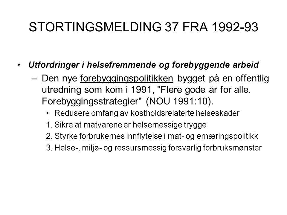 STORTINGSMELDING 37 FRA 1992-93