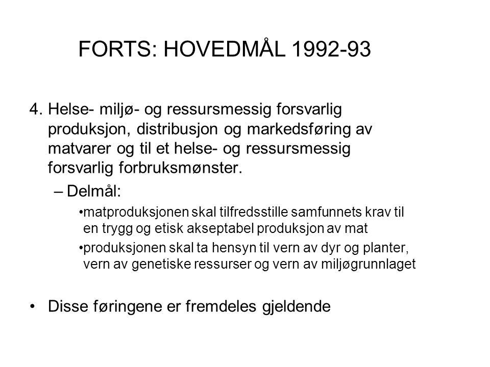 FORTS: HOVEDMÅL 1992-93