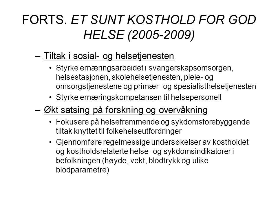 FORTS. ET SUNT KOSTHOLD FOR GOD HELSE (2005-2009)