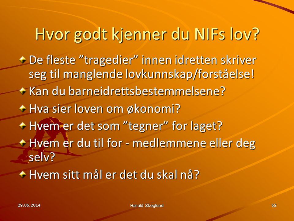 Hvor godt kjenner du NIFs lov