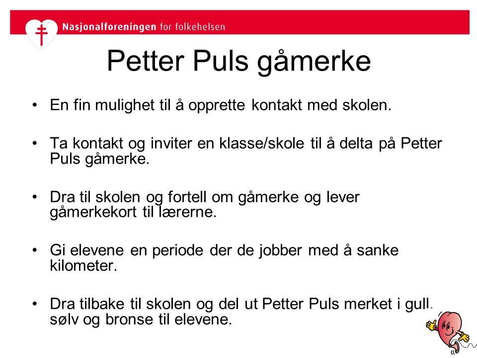 Petter Puls gåmerke En fin mulighet til å opprette kontakt med skolen.