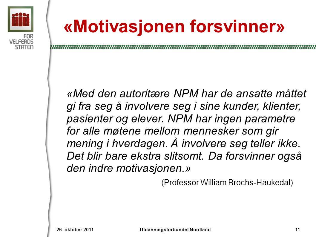 «Motivasjonen forsvinner»