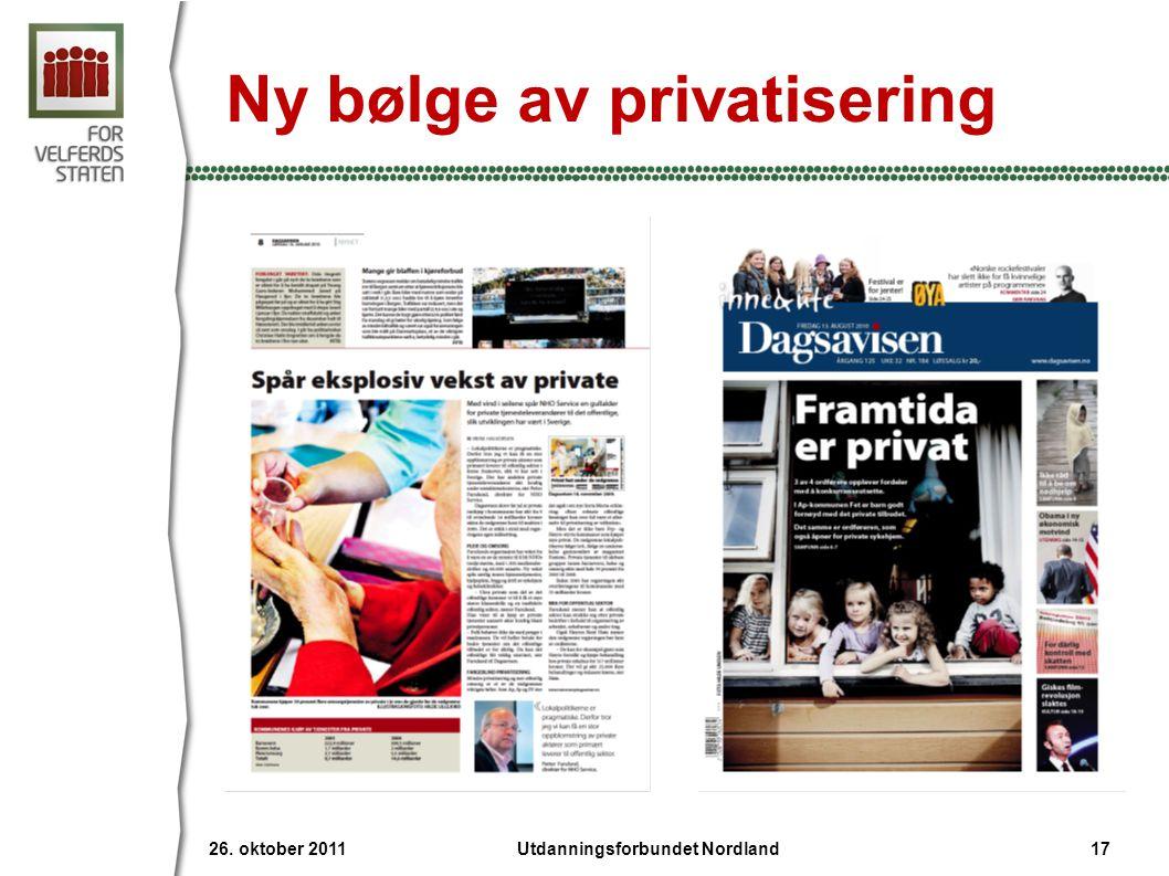 Ny bølge av privatisering