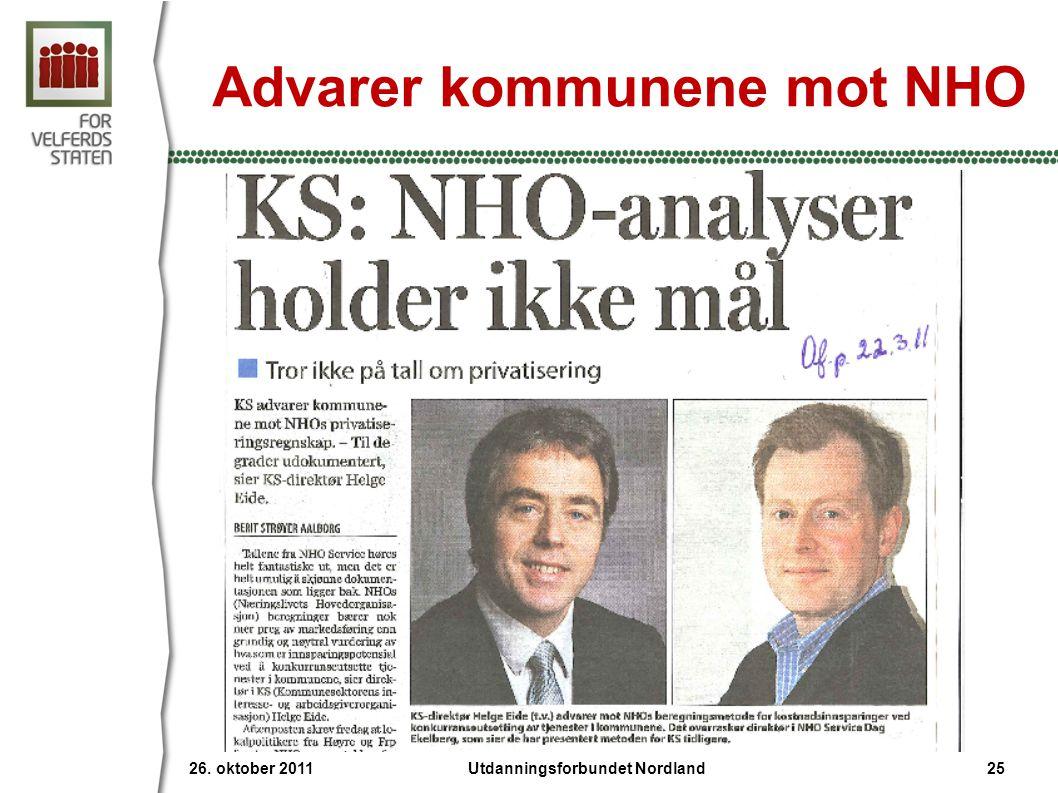 Advarer kommunene mot NHO