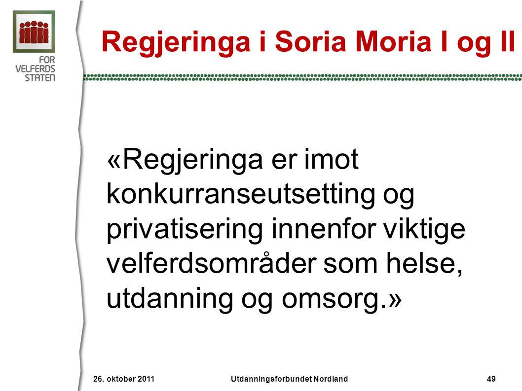 Regjeringa i Soria Moria I og II