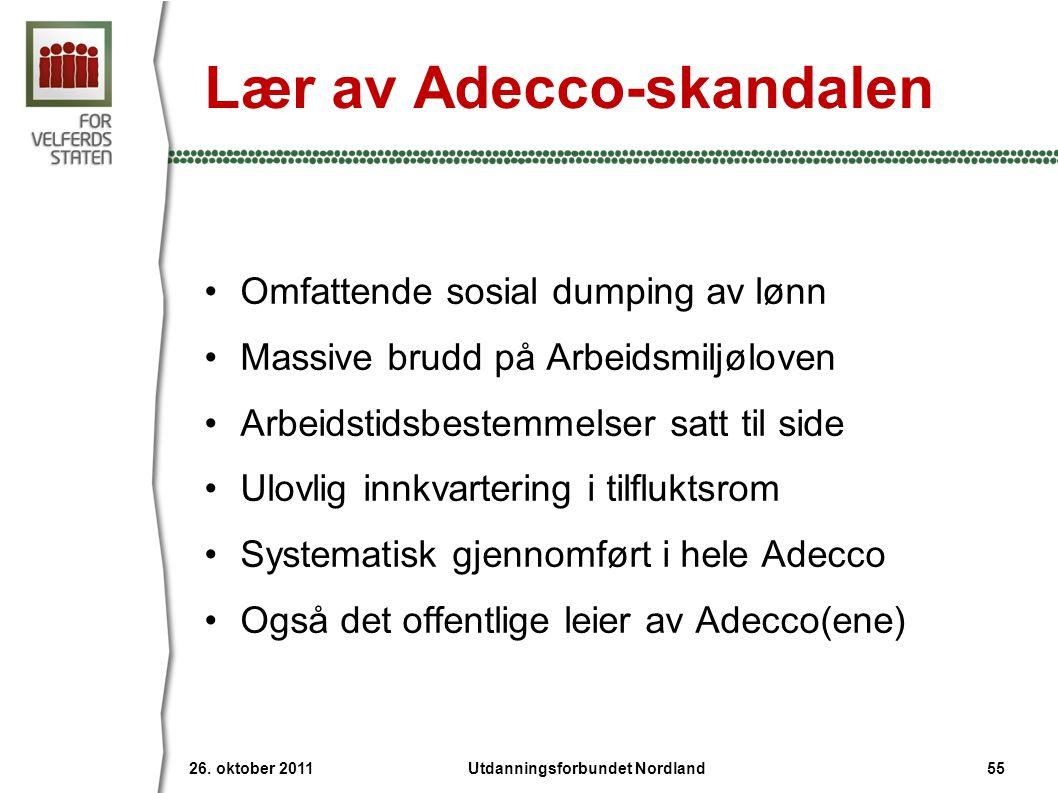 Lær av Adecco-skandalen